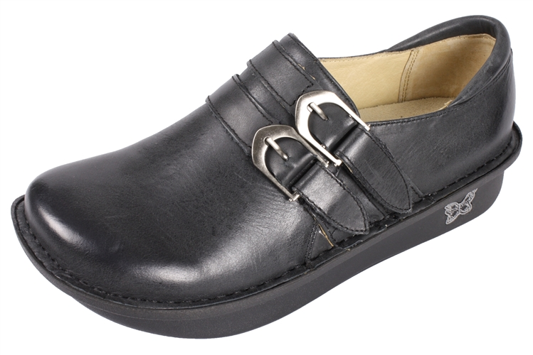 Alegria Alli Burnish Black womens slip resistant leather loafer · View  Larger Photo Email ...