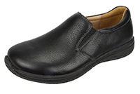 Alegria Men's Aaron Black Tumbled leather loafer