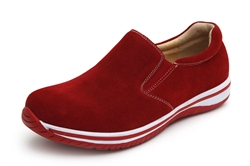 Alegria Men's Aaron Red Suede