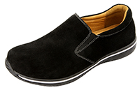 Alegria Men's Aaron Black Out Suede athletic leather loafer