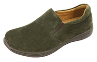 Alegria Men's Aaron Olive Suede athletic leather loafer