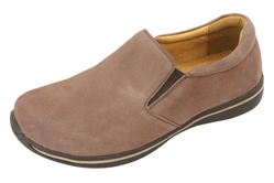 Alegria Men's Aaron Stone Suede athletic leather loafer