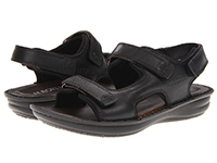 Alegria Mens Angler Black Tumble casual comfort sandal on sale