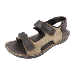 Alegria Men's Angler Brown Tumble Sandal