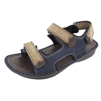 Alegria Mens Angler Navy/Brown Tumble casual comfort sandal on sale