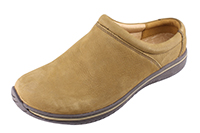 Alegria Mens Art Taupe comfortable open back leather shoe