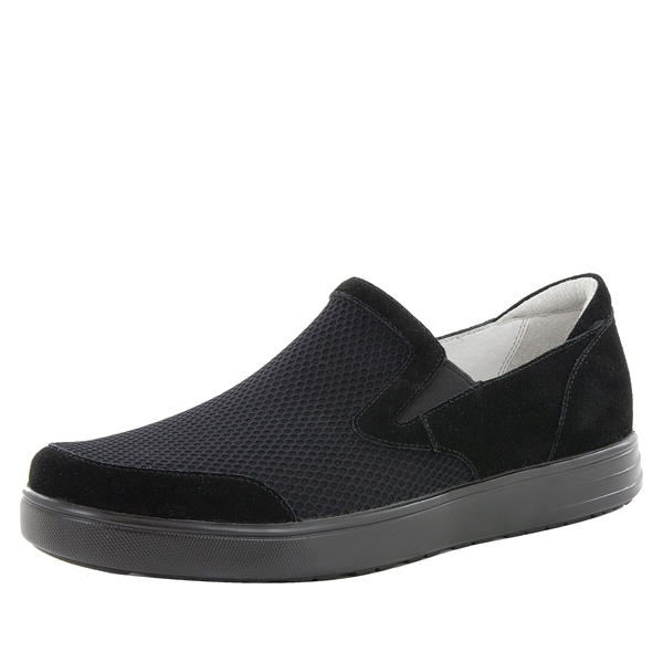 Alegria Men's Bender Black Suede