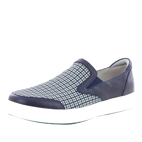 Alegria Men's Bender Navy Plaid