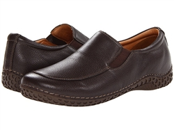 Alegria Mens Foxe Choco Tumble leather upper comfort casual loafer