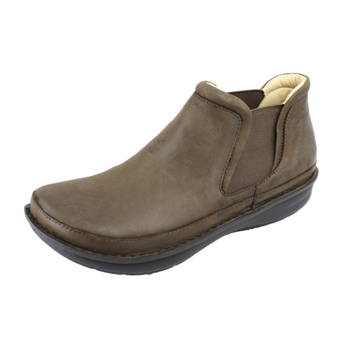 Alegria Mens Lewiston Dark Brown Nubuck comfort ankle boot. View Larger  Photo Email ...