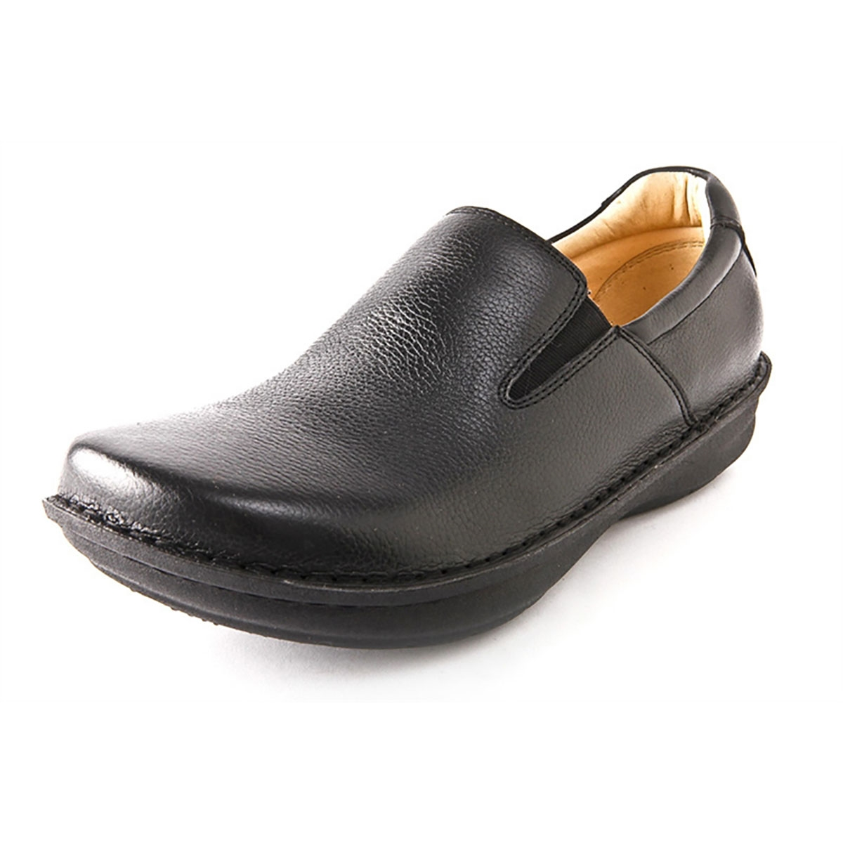 Alegria Mens Oz Black Tumbled Leather slip resistant comfort loafer. View  Larger Photo Email ...