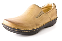 Alegria Mens Oz Brown Tumbled Leather professional slip resistant loafer
