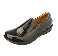 Alegria Mens Oz Choco Patent professional slip resistant loafer