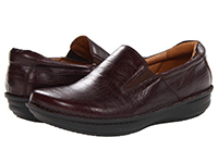 Alegria Mens Oz Choco Alligator professional leather dress comfort loafer