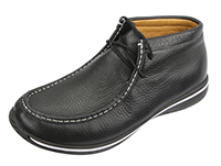 Alegria Men's Packard Black Tumbled leather moccasin ankle boot