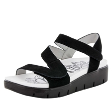 Alegria Anah Black comfort sandals for women