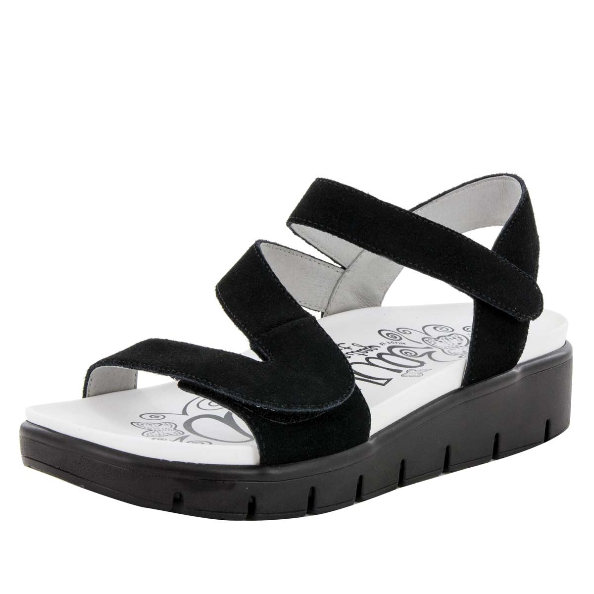 15821ea2027be2 Anah Black Sandal - Alegria Shoes