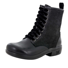 Alegria Ari Oiled Suede Black boot