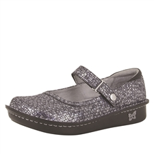 Alegria Belle Silver Slate leather womens mary jane comfort shoe