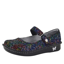 Alegria Belle Ric Rack Rainbow leather womens mary jane comfort shoe