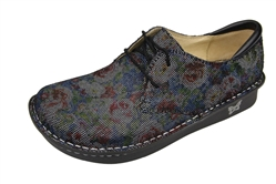 Alegria Bree Multi Dot Floral comfort oxford shoes for women with laces