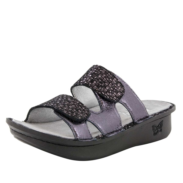 Alegria Camille Tile Me More Pewter women's comfort sandal
