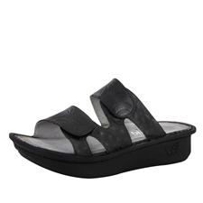Alegria Camille Black Stamps women's comfort sandal