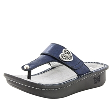 Alegria Carina Dusk womens leather thong sandal