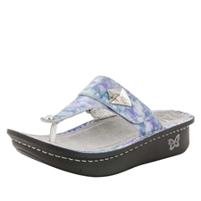 Alegria Carina Mellow Out womens leather thong sandal