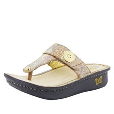 Alegria Carina Sand Do's womens leather thong sandal