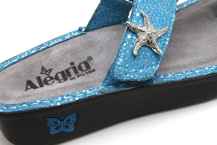0731d0a32aa Carina Turquoise Starfish - Alegria Shoes