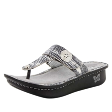 Alegria Carina Wrapture womens leather thong sandal