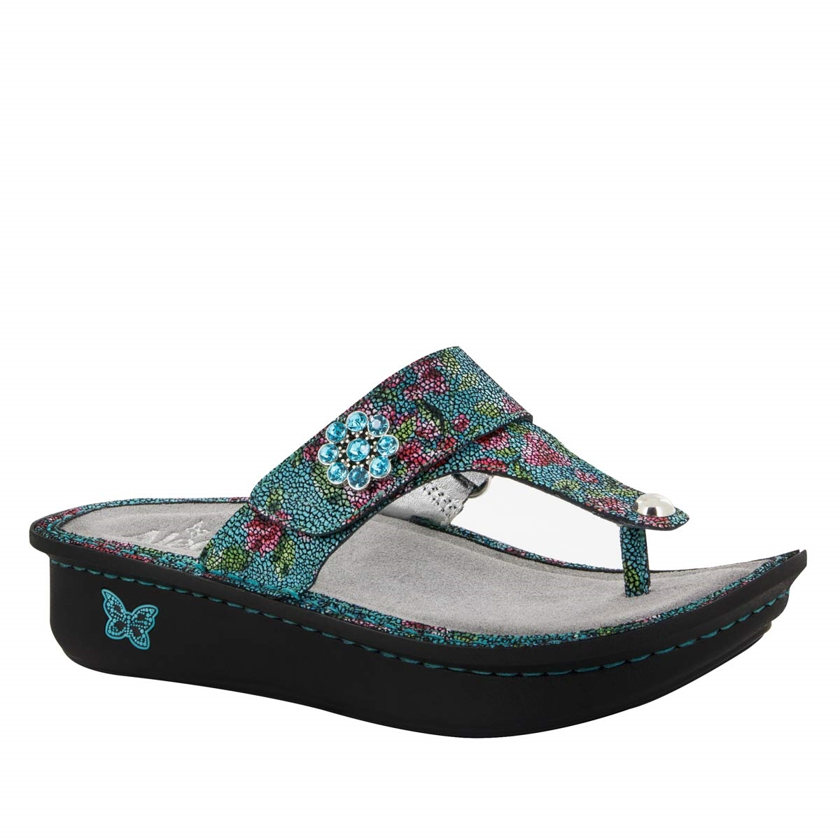278bf5ca767e2b Carina Aqua Flora Sandal - Alegria Shoes