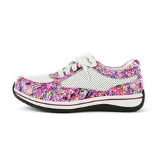 Alegria Cindi Pink Swirl leather comfort shoe for women
