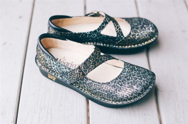 Alegria Shoes - Dayna Leopard Stripes