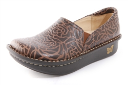 Alegria Debra Choco Emboss womens stain resistant professional shoe