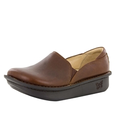 Alegria Debra Hazelnut brown womens slip resistant nursing shoe