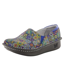 Alegria Debra Aztec Dottie multi-color womens slip resistant nursing shoe