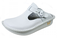 Alegria Donna White Leather womens slip resistant professional nursing shoes
