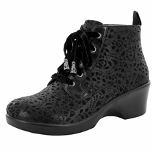 Alegria Eliza Delicut women's wedge booties