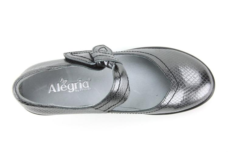 Alegria Shoes Ella Pewter Snake