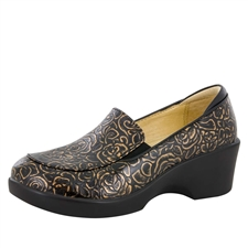 Alegria Emma Bronze Bouquet slip resistant dress shoes for women