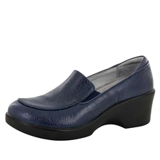 Alegria Emma Masonry Blue slip resistant dress shoes for women