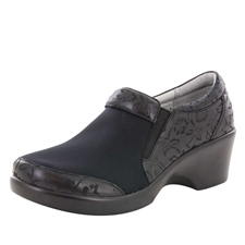 Alegria Eryn Morning Glory Black stain resistant comfort shoes for women