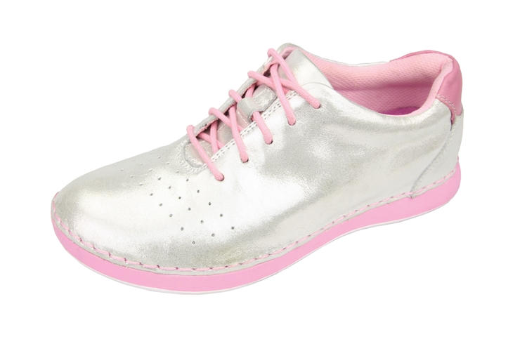 Alegria White Essence Womens Lace Ups Shimmer