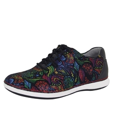 Alegria Essence Stained Glass multi-colored slip resistant athletic lace-up shoe for women
