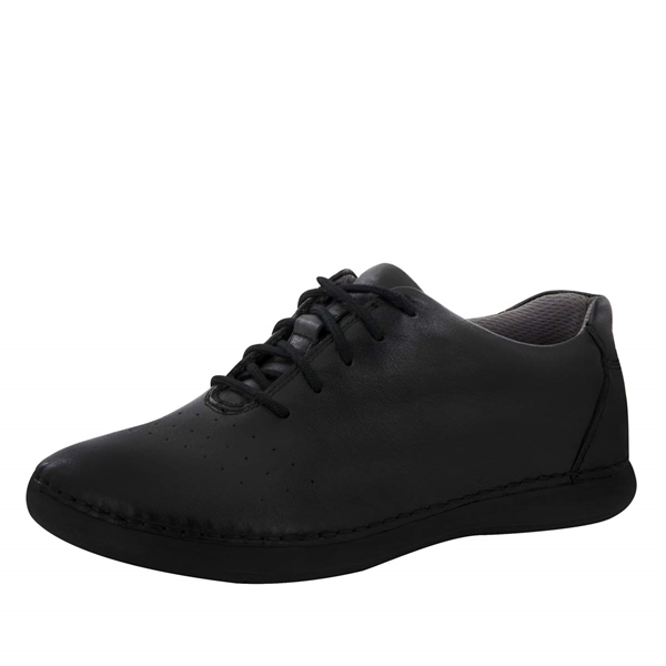 Alegria Essence Black Nappa slip resistant athletic shoe for women