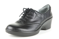Alegria Etta Black Napa womes leather dress oxfords with laces