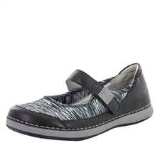 Alegria Gem Black slip resistant athletic shoe for women