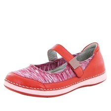 Alegria Gem Red slip resistant athletic shoe for women